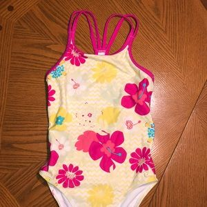 899cb7ea7e98a LL Bean LLBean Girls Wave Jumper Swimsuit OnePiece Print